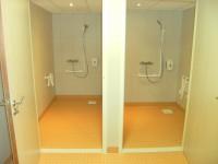 Salle d'eau conforme aux dispositions réglementaires en vigueur applicables aux Bâtiments d'Habitation Collectif
