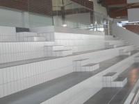 Gradins en Grès Emaillé 11.5 x 24 blanc et gris