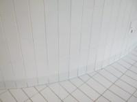 Détail Grès Emaillé 11.5 x 24 blanc au sol et mur