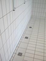 Douche en Grès Emaillé 11.5 x 24 blanc avec siphons