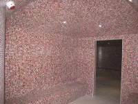 Mosaïque 2 x 2 cm dans un hammam