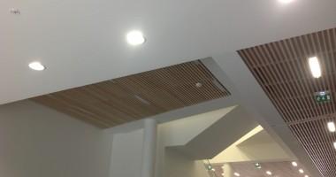 Siége social Archipel Habitat Rennes plafond Monon Acoustic et plafond bois Laudescher