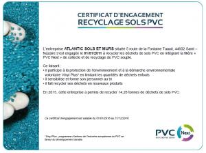 """Atlantic Sols membre de la filière """"PVC Next"""""""